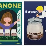 Danone, 100 anos, multinacional francesa, cartazes, marcas, Superbrands