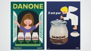 Danone, 100 anos, multinacional francesa, cartazes, marcas, Superbrands